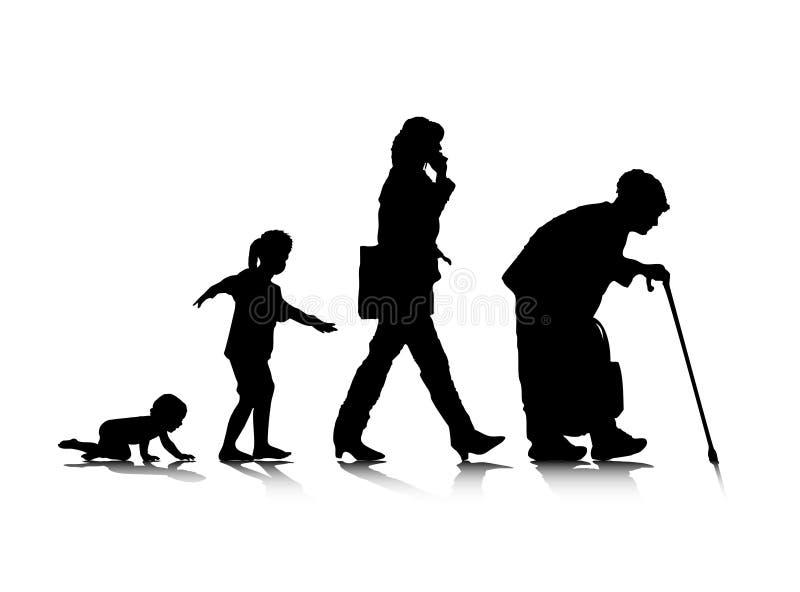 Aging_3 humano ilustração do vetor