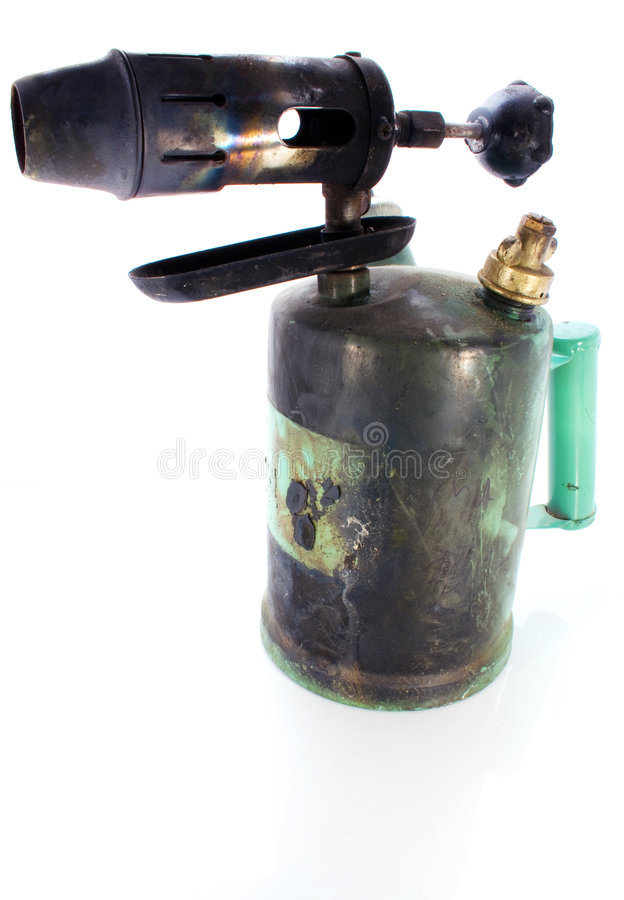 Aging blowtorch stock photography