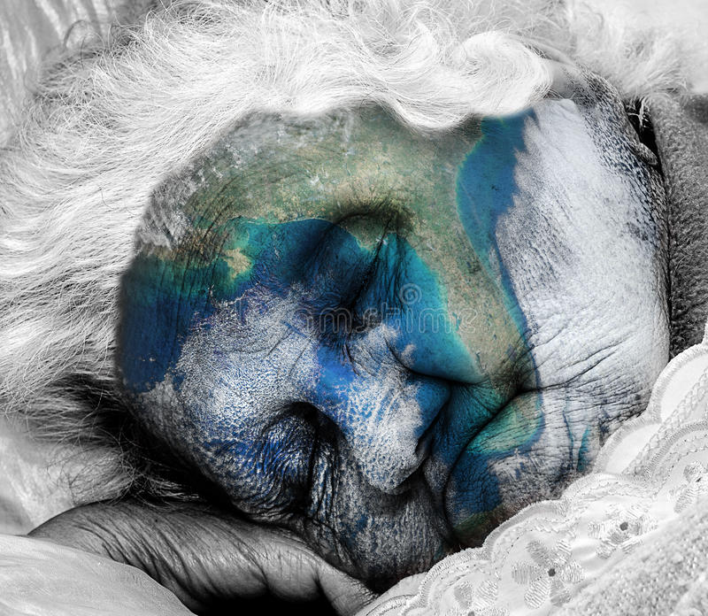 Aging / dying Mother Earth stock photos
