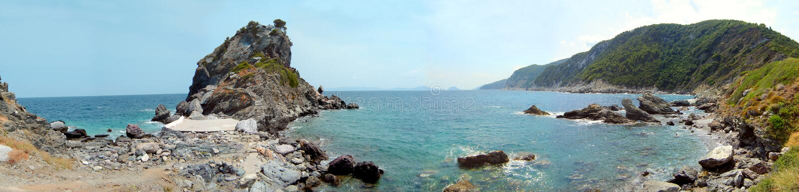 Agio Ioanis beach_Scopelos Island_Greece stockfotos