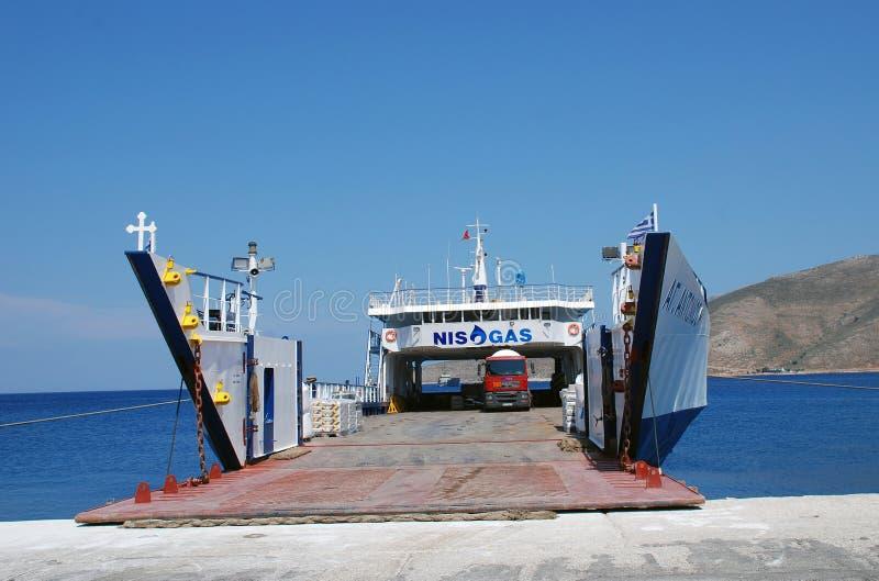 Agios Antonios cargo ship, Tilos stock photos