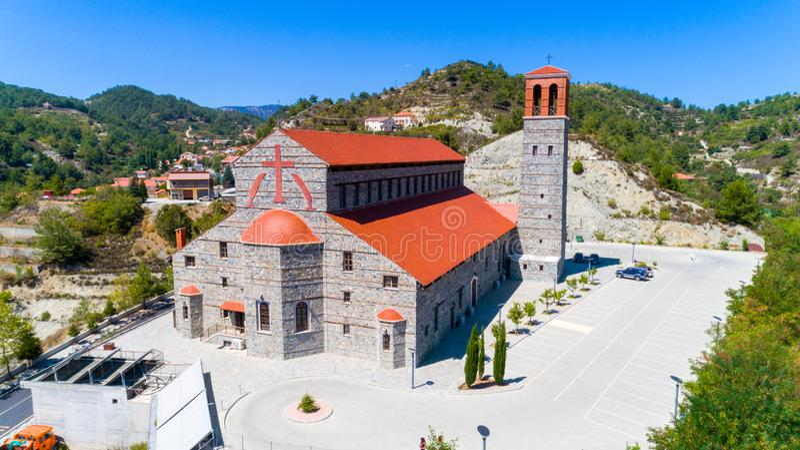 Agios Arsenios-kerk, Kyperounda, Limassol, Cyprus royalty-vrije stock foto