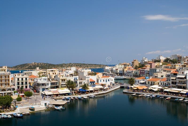 agios crete greece nikolaos royaltyfria bilder