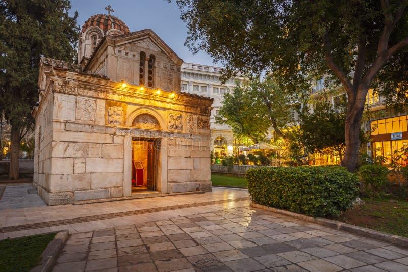 Agios Eleftherios Church em Atenas imagem de stock royalty free