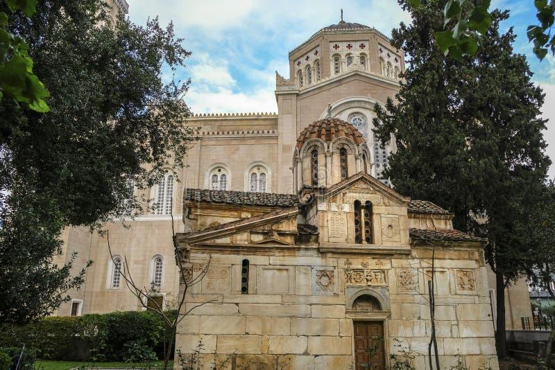 Agios Eleftherios Church em Atenas, Grécia fotos de stock royalty free