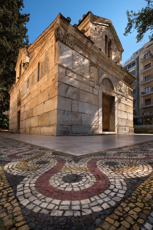 Agios Eleftherios Church em Atenas, Grécia fotografia de stock