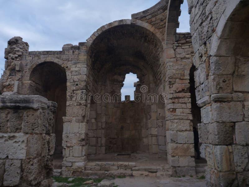 Agios filon church in karpasia peninsula royalty free stock images
