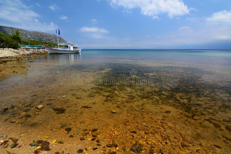 Agios Konstantinos-Bucht Samos-Insel Griechenland stockbild