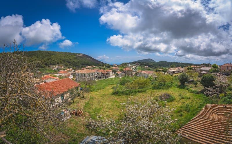 Agios Leon village homes in Zante royalty free stock photography