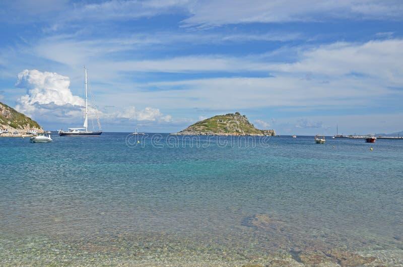 Agios Nicholaos-haven stock afbeeldingen
