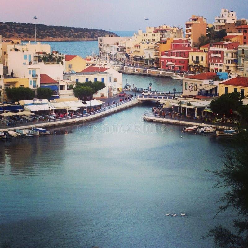 Agios Nicolás, Crete fotografía de archivo
