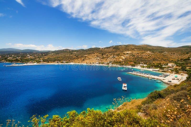 Agios Nikolaos-baai op het eiland van Zakynthos royalty-vrije stock foto