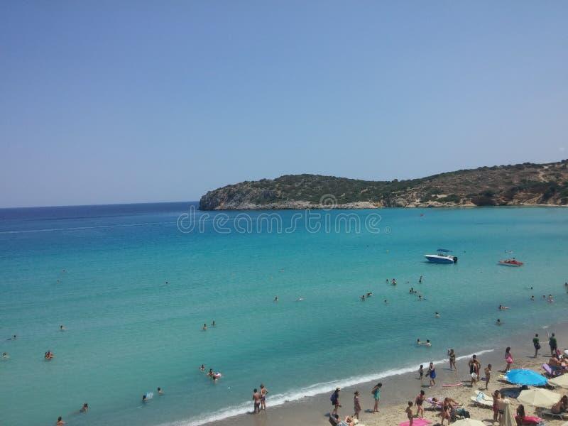 Agios Nikolaos Beach Heraklion Kreta stockbilder