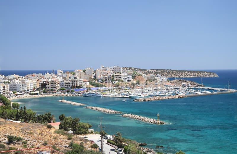 Agios Nikolaos is the capital of the noma of Lassithi in Crete. Greece stock photos