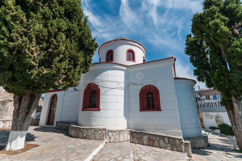 Agios Nikolaos Church Skiathos, Grekland arkivbild