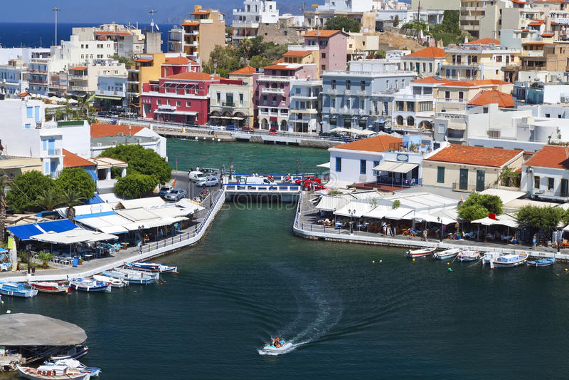 Download Agios Nikolaos City At Crete Island, Greece Stock Image - Image: 26480797