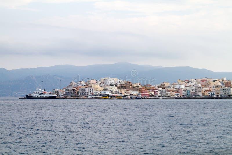 agios nikolaos crete greece royaltyfria foton
