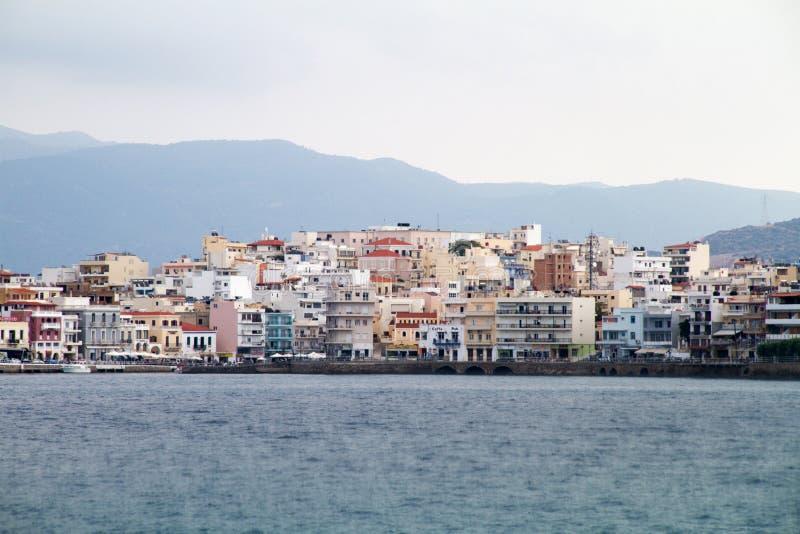 agios nikolaos crete greece royaltyfri bild