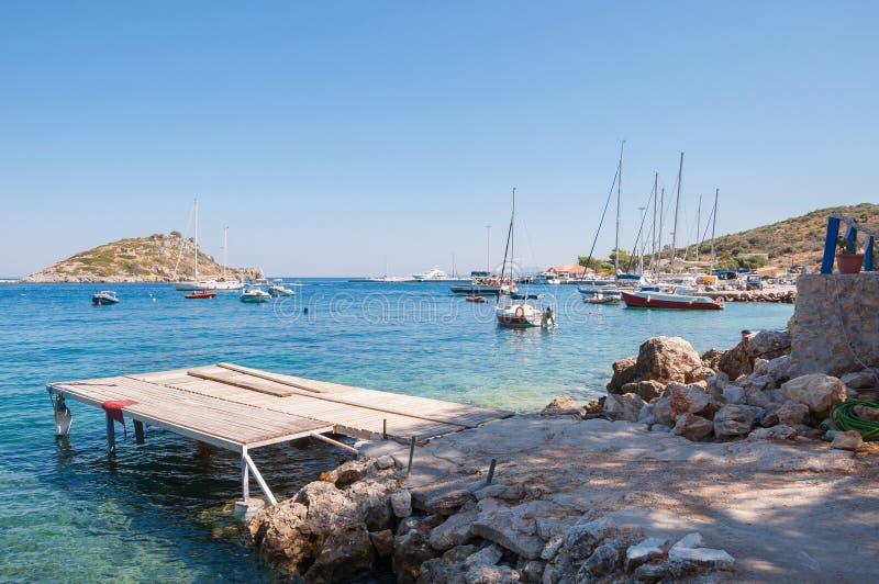 Agios Nikolaos-haven op Zakynthos royalty-vrije stock afbeelding