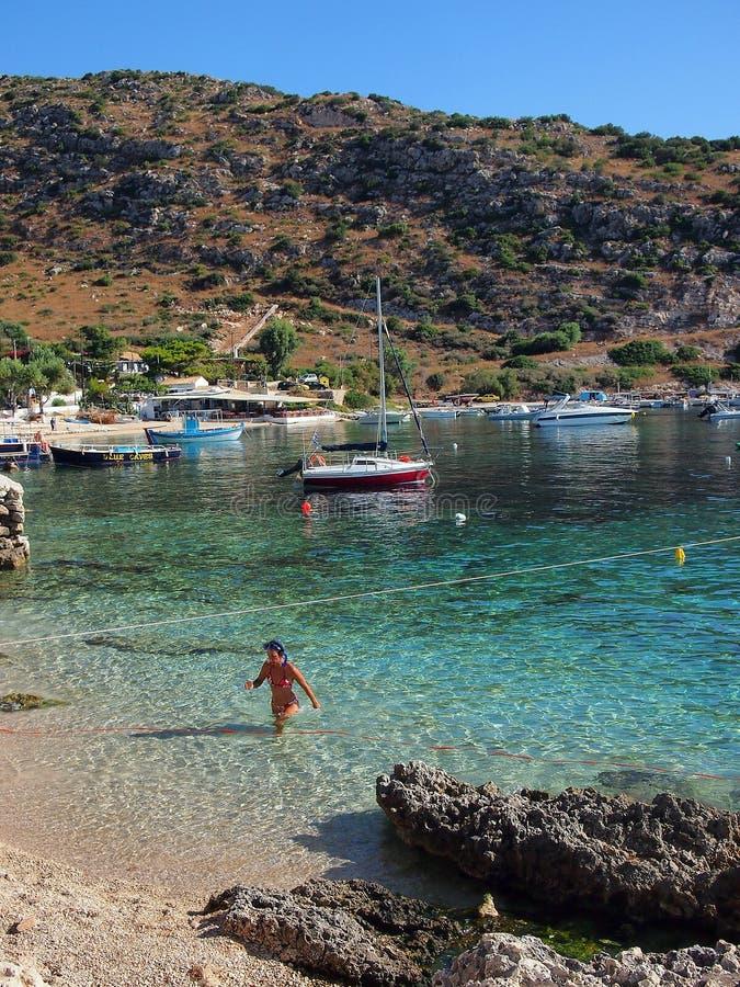 Agios Nikolaos Port, Zakynthos royalty-vrije stock foto's
