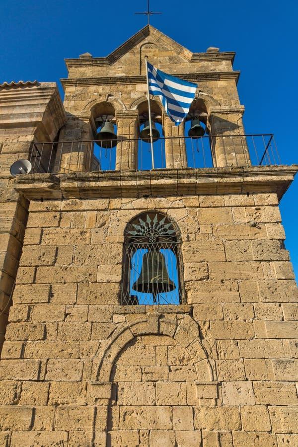 Agios Nikolaos Saint Nicholas Zakynthos-Stad, Ionisch eiland, Griekenland stock fotografie