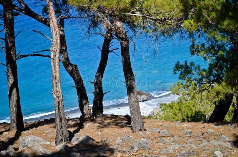Agios Pavlos beach royalty free stock photography