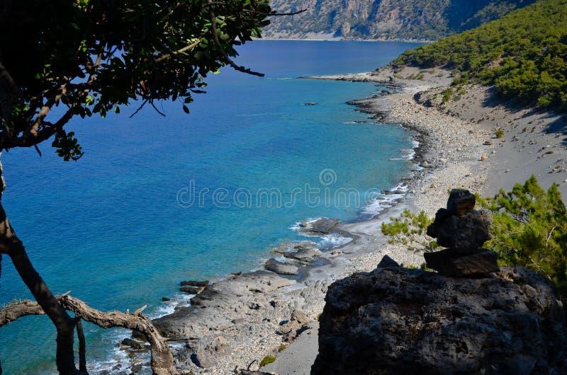 Agios Pavlos beach stock photo
