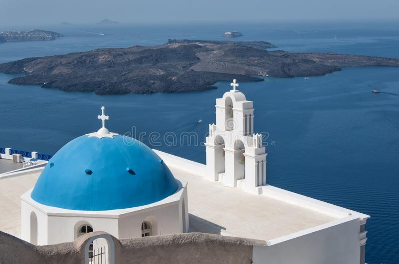 Agios Theodori Church in Fira, Santorini fotografie stock
