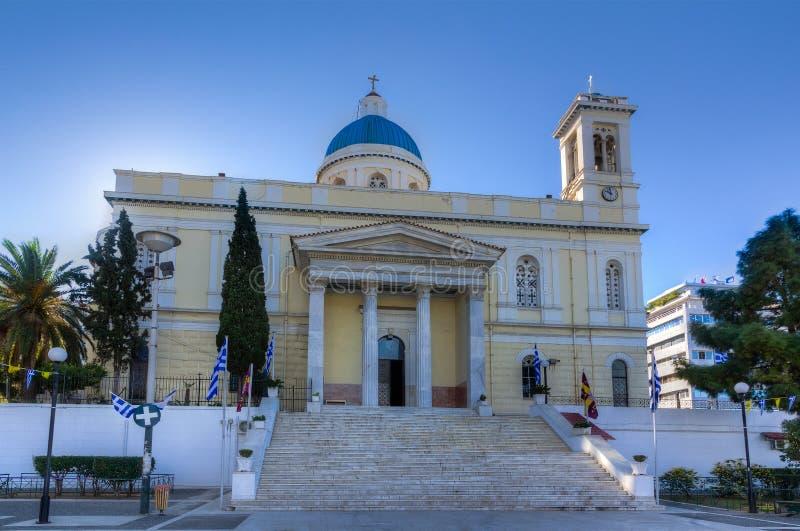 AgiosNikolaos kyrka, Piraeus, Grekland arkivbild