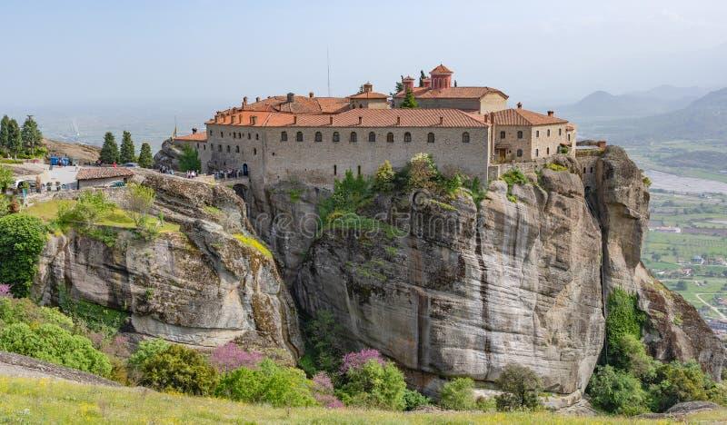 Agiou Stephanou st Stephen Monastery, Meteora, Griekenland royalty-vrije stock foto's