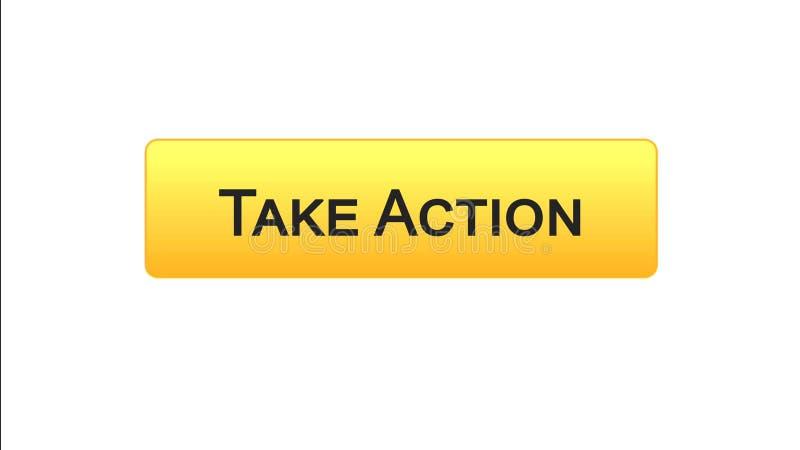 Agisca a bottone dell'interfaccia di web il colore arancio, la progettazione del sito internet, la direzione illustrazione di stock