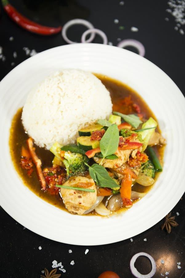 Agitação asiática fritada com arroz foto de stock royalty free
