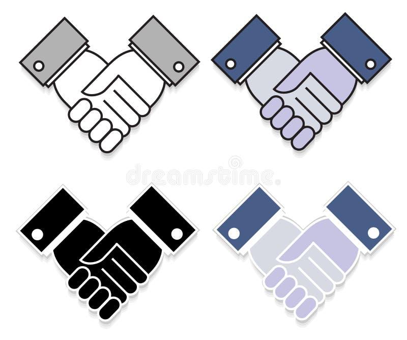 Agitação da etiqueta da mão ilustração stock