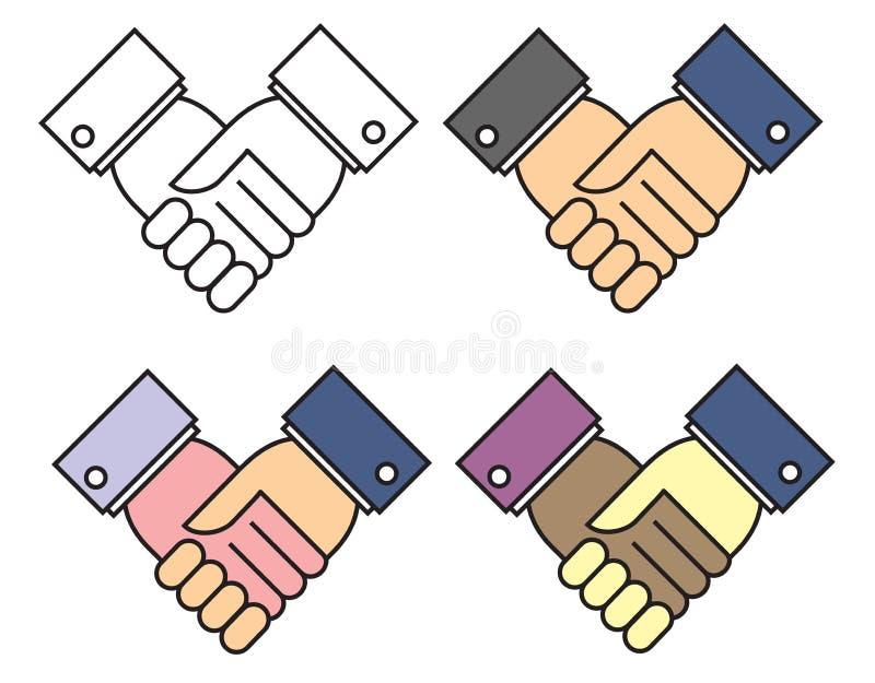 Agitação da mão ilustração stock