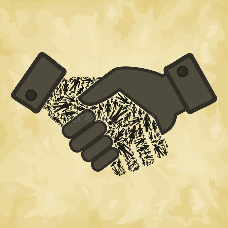 Agitação da mão da pessoa ilustração royalty free