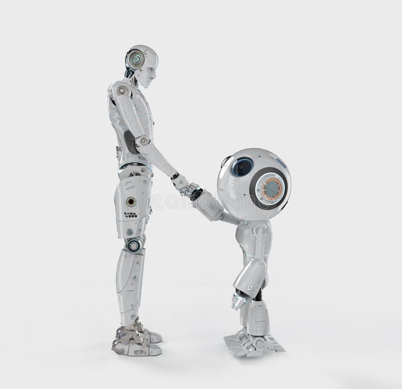 Agitação da mão do robô ilustração do vetor