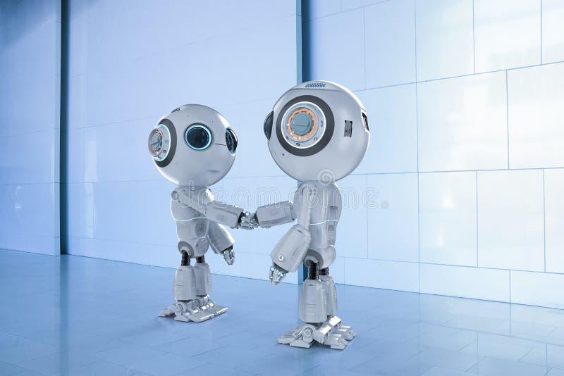 Agitação da mão do robô ilustração stock
