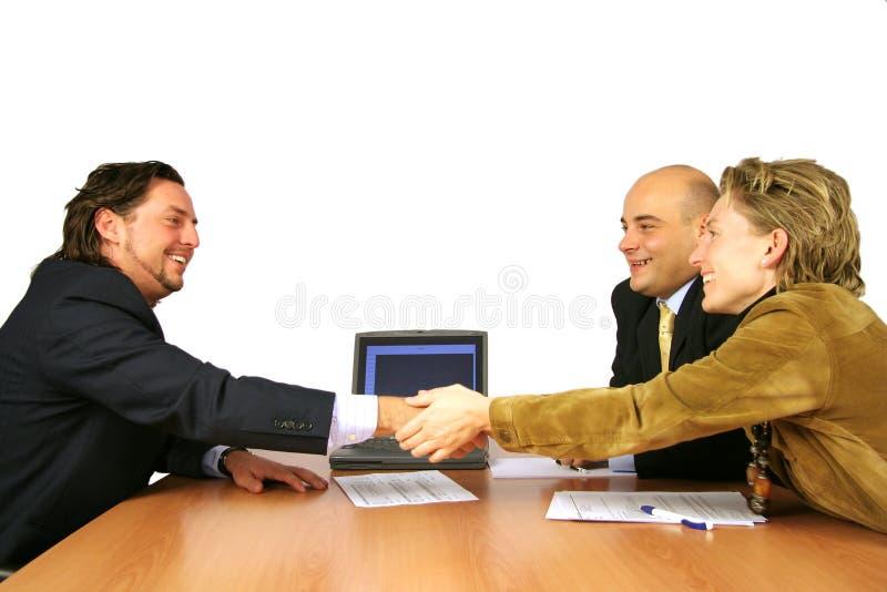 Agitação da mão do sucesso da reunião foto de stock royalty free