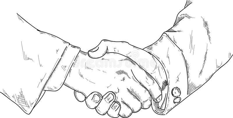 Agitação das mãos ilustração stock