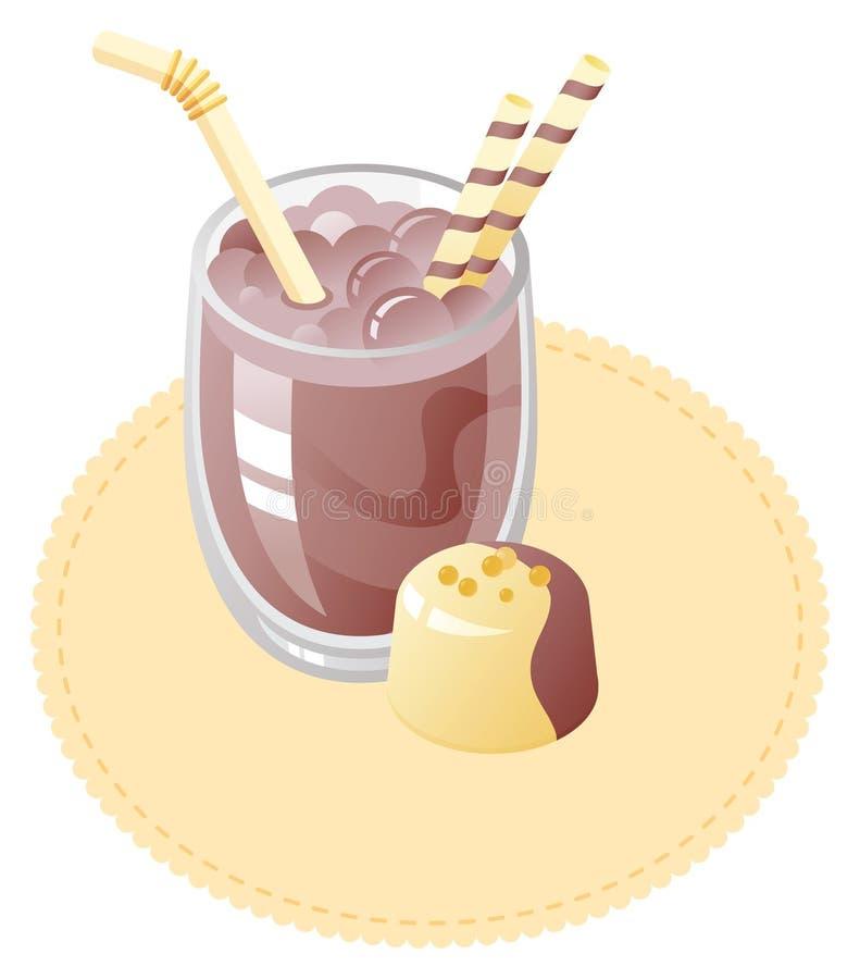 Agitação de leite ilustração royalty free
