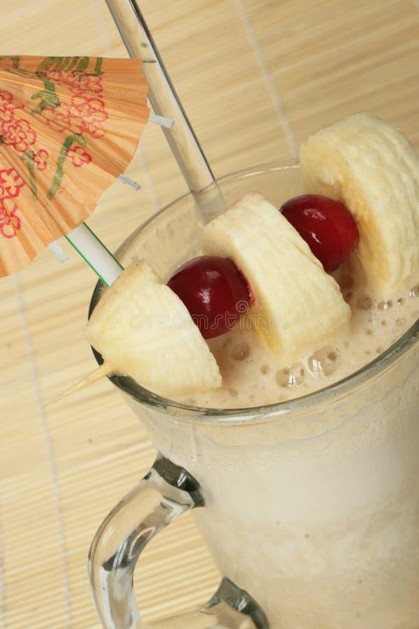 Agitação de leite da banana fotografia de stock royalty free