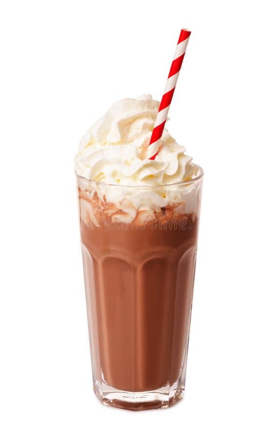 Agitação de leite de chocolate fotografia de stock