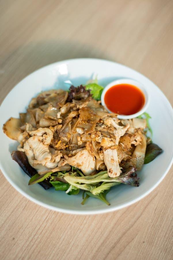 Agitação lisa do macarronete de arroz fritada fotos de stock royalty free