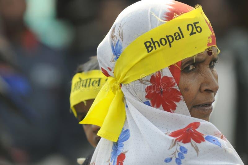 Agitación de Bhopal. imagen de archivo