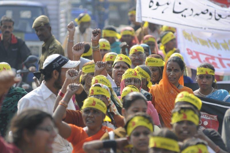 Agitación de Bhopal. imagen de archivo libre de regalías