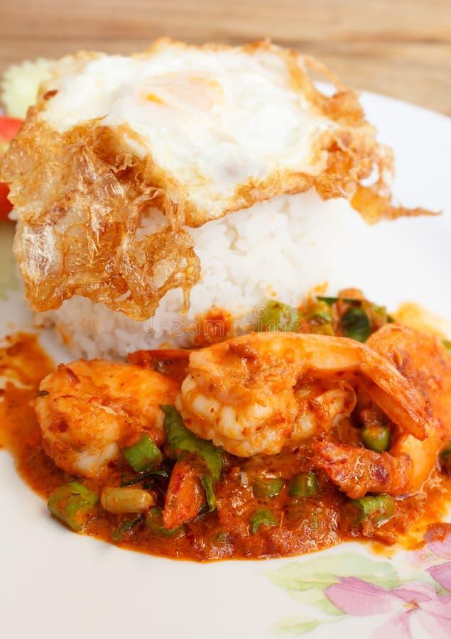 Agitación Fried Shrimp con Chili Paste fotos de archivo libres de regalías
