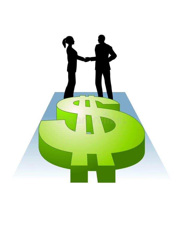 Agitando sinais de dólar das mãos ilustração do vetor
