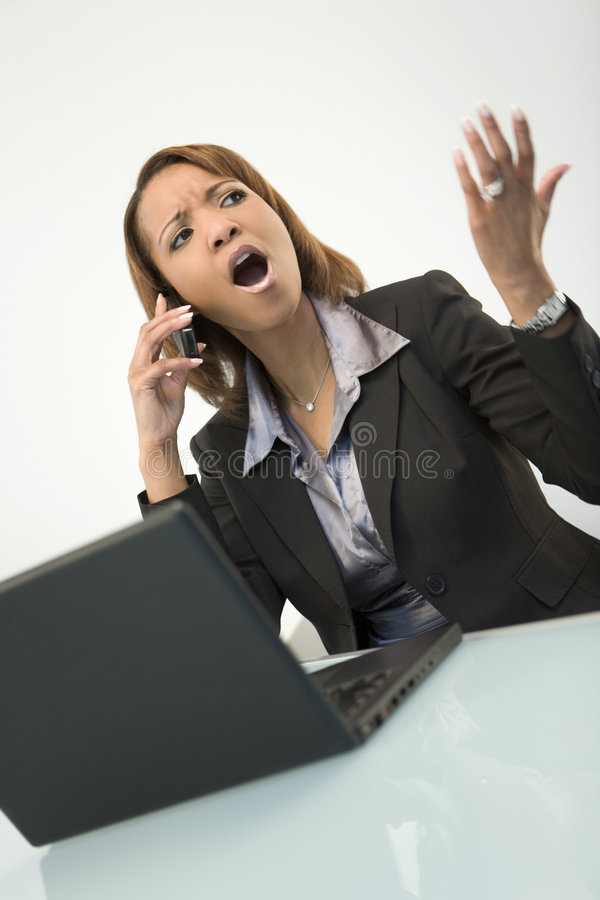Download Agitated Businesswoman stock photo. Image of communication - 5620992