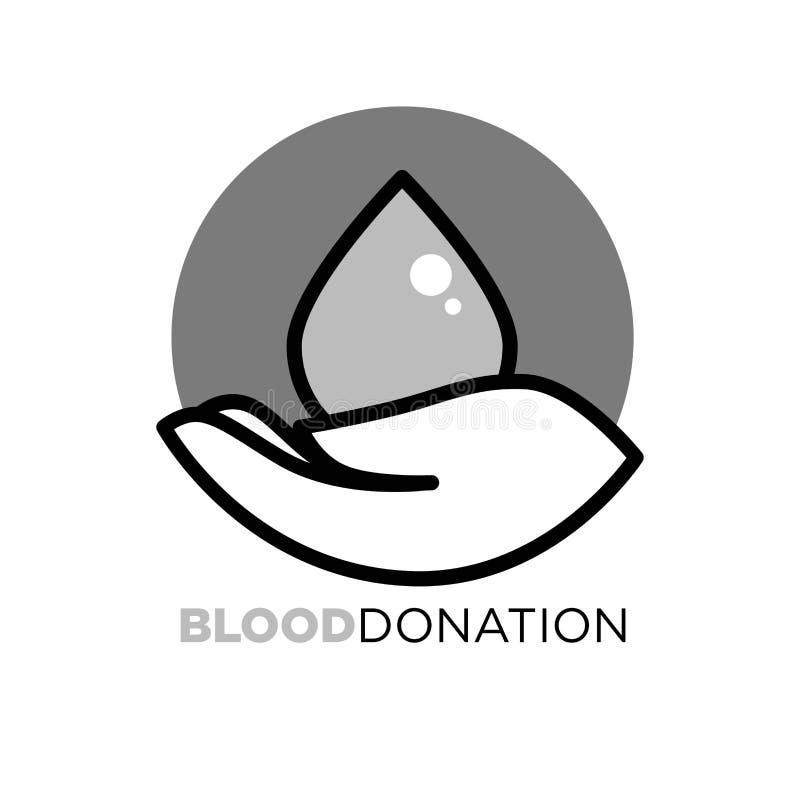 Agitative für Nächstenliebe anzuregen Plakat der Blutspende, vektor abbildung