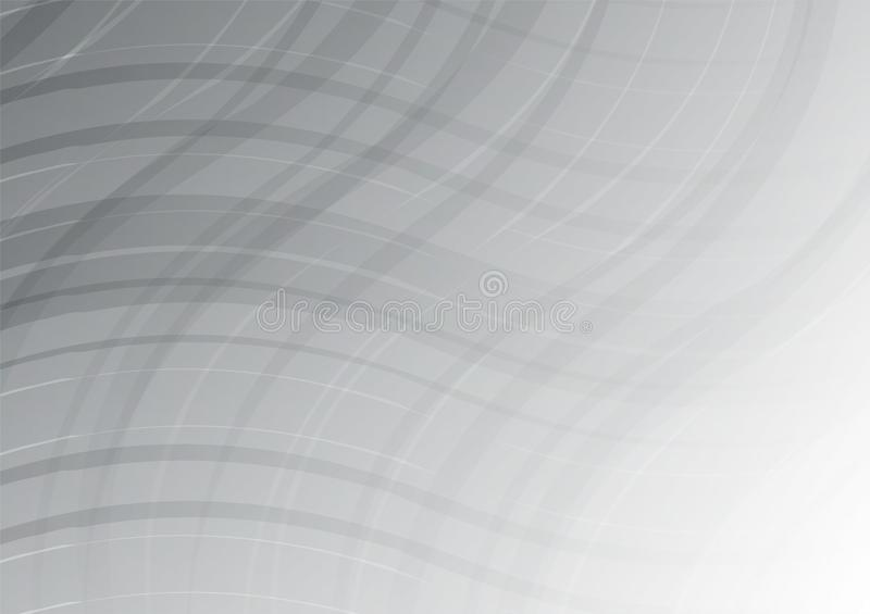 Agite el extracto blanco y gris del color geométrico para el fondo del negocio Ilustración del vector libre illustration